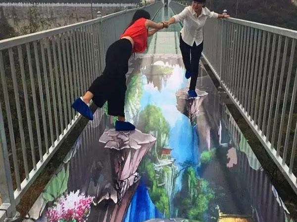 3D特效玻璃吊桥